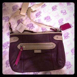 NWT Purple Leather Coach Bag